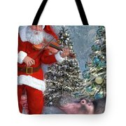 Holiday Hippo Dancing Cheer Tote Bag
