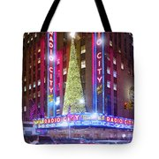 Holiday Season At Radio City Music Hall  Tote Bag