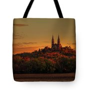 Holy Hill Sunrise Panorama Tote Bag