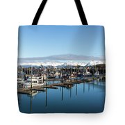 Homer Alaska Fishing Port Tote Bag