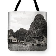 Homes On Ha Long Bay Boat People  Tote Bag