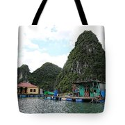 Homes On Ha Long Bay Gulf Of Tonkin  Tote Bag