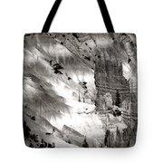 Hoodoo's Black White Utah  Tote Bag