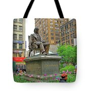 Horace Greelly, First President Of Typographic Union Of New York City Tote Bag