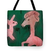 Horse And A Rabbit Tote Bag