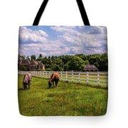 Horse Farm Tote Bag by Louis Dallara