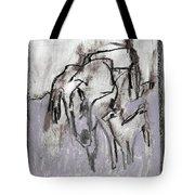 Horse In A Field Tote Bag