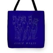 Horse Magic Line Drawing Horse Silhouette Design Tote Bag