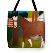 Horse On A Ranch Tote Bag