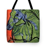 Horse On Orange And Green Tote Bag