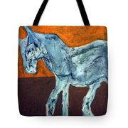 Horse On Orange Tote Bag