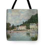 Horses Being Watered At Marly-le-roi, 1875 Tote Bag