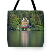 House On The Lake Tote Bag by Davor Zerjav