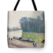 Houseboats On The River Loing Tote Bag