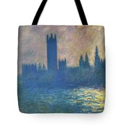 Houses Of Parliament, Sunlight Effect - Digital Remastered Edition Tote Bag