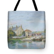 Houses On The Bank Of Ecluse At The Gazonne Tote Bag