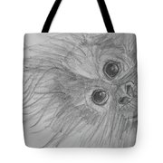 How's It Hangin'? Sketch Tote Bag by Jani Freimann