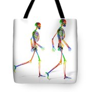 Human Skeleton Pair Tote Bag