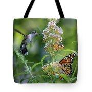 Hummingbird And Monarch Tote Bag