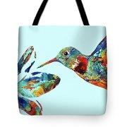 Hummingbird Blue - Sharon Cummings Tote Bag