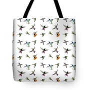 Hummingbirds Of Trinidad And Tobago On White Tote Bag