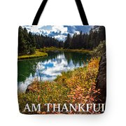 I Am Thankful Tote Bag