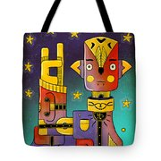 I Come In Peace - Heavy Metal Tote Bag by Sotuland Art