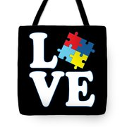 I Love Autism Tote Bag