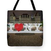 I Love Ny Tote Bag by Brad Wenskoski