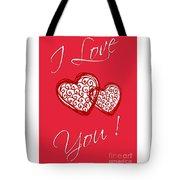 I Love You Hearts Tote Bag