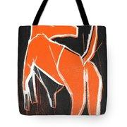 I Was Born In A Mine Orange Dog 33 Tote Bag