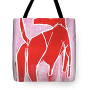 I Was Born In A Mine Red Dog 34 Tote Bag