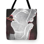 I Was Born In A Mine Woodcut 11 Tote Bag