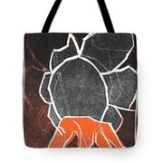 I Was Born In A Mine Woodcut 24 Tote Bag