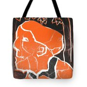 I Was Born In A Mine Woodcut 48 Tote Bag