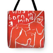 I Was Born In A Mine Woodcut 56 Tote Bag