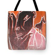 I Was Born In A Mine Woodcut 62 Tote Bag