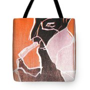 I Was Born In A Mine Woodcut 74 Tote Bag