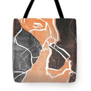 I Was Born In A Mine Woodcut 75 Tote Bag