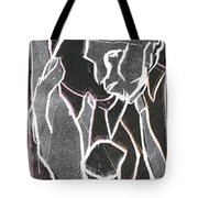 I Was Born In A Mine Woodcut 86 Tote Bag