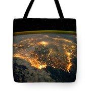 Iberian Peninsula From Space Tote Bag