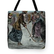 Ice Hockey  Ladies Match On The Lake In Wimbledon Park Tote Bag