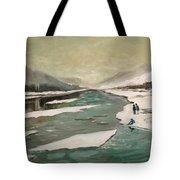 Icey River Tote Bag
