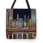 Iconic Night View Down The River Tote Bag