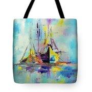 Illusive Boats Tote Bag