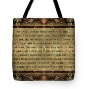 In A Manger Tote Bag by Missy Gainer