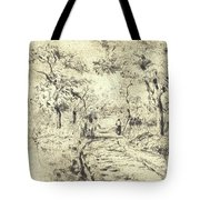In The Fields At Ennery, 1875 Tote Bag