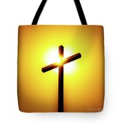 In The Shadow Of The Cross Tote Bag