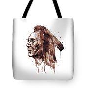 Indian Warrior Sepia Tones Tote Bag