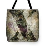 Industrial Letter X Tote Bag